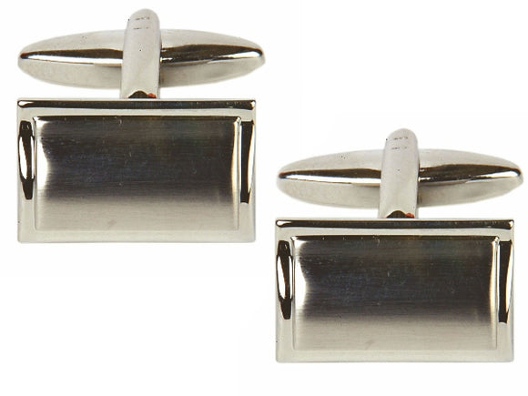 Rectangular Curved Cufflinks