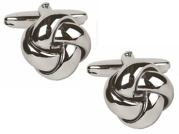 Open Curved section knot Cufflinks 90-9111