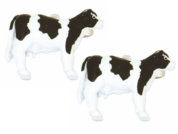 Black  and white cow cufflinks 90-1323