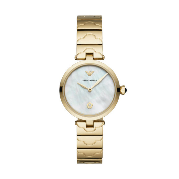 Armani  Womens Two-Hand Gold-Tone Ar11198