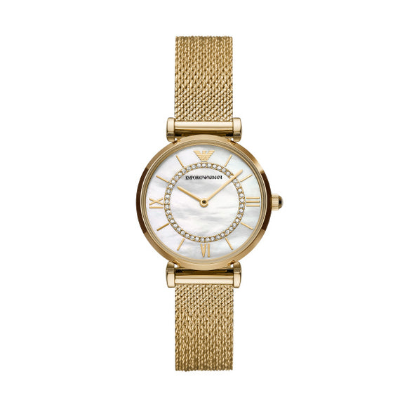 Emporio Armani Watch AR11321 Gold Gianni T-Bar