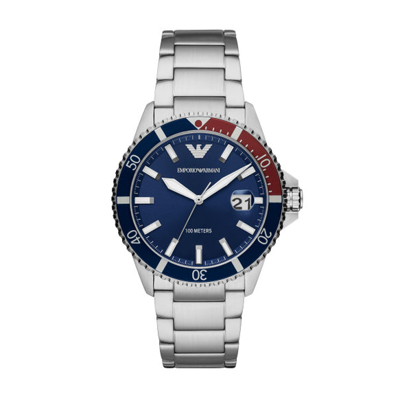 Armani Diver Stainless Steel Gents Watch