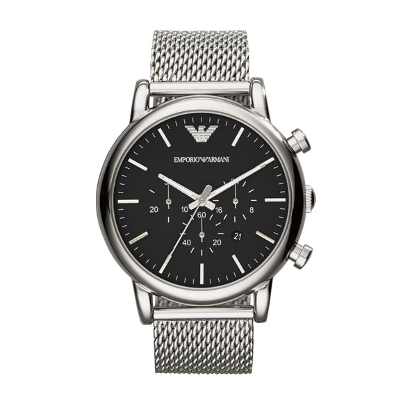 ARMANI CHRONOGRAPH WITH CASE STRAP IN MILANESE STEEL STRAP AR1808