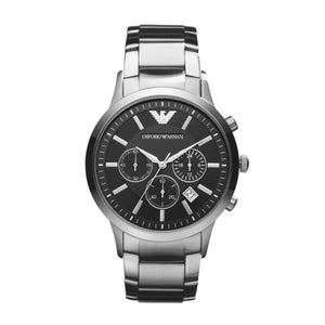 ARMANI RENATO BLACK DIAL WATCH AR2434