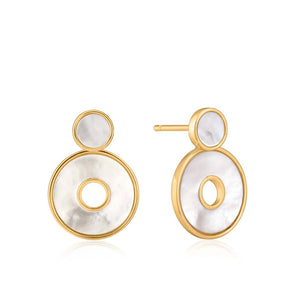 Ania Haie Mother Of Pearl Disc Earrings E022-03G