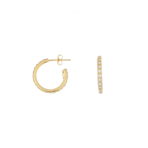 Sterling Silver Yellow Gold plated Hoop Earrings