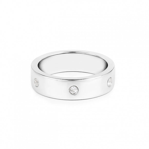 Lav'z Initials Ring with White Topaz  Enrg21wtss