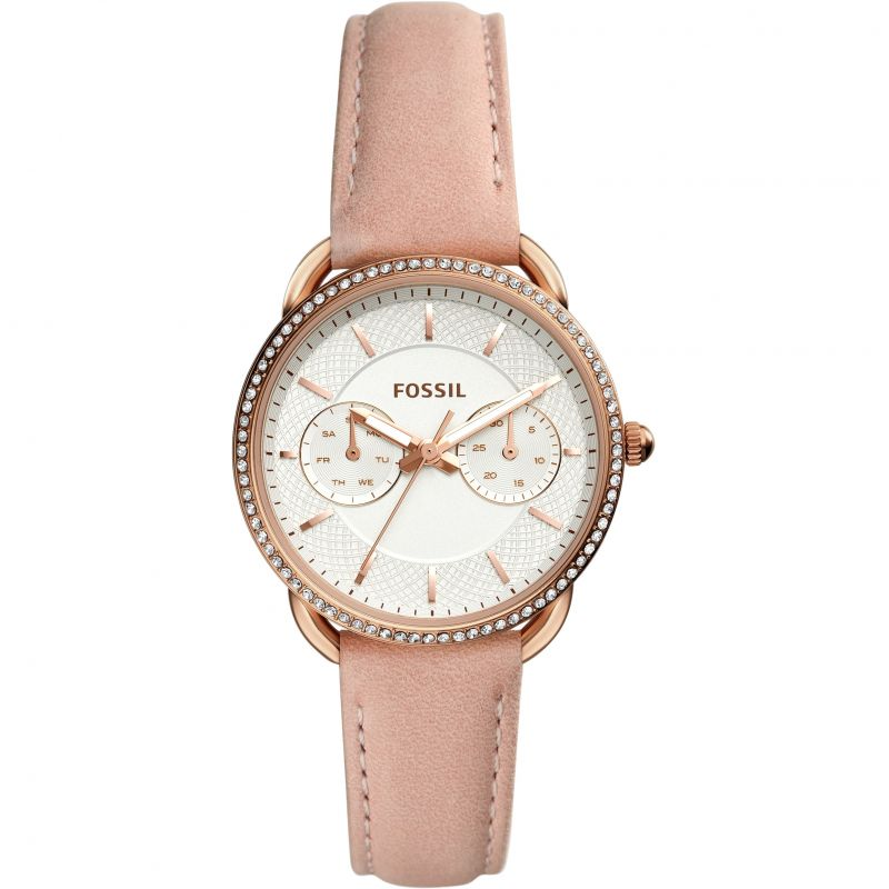 Fossil Tailor Multifunction Blush Leather Strap Ladies Watch ES4393