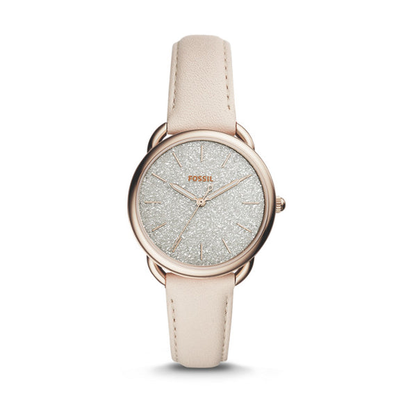 Fossil Tailor Winter White Leather Strap Ladies Watch ES4421