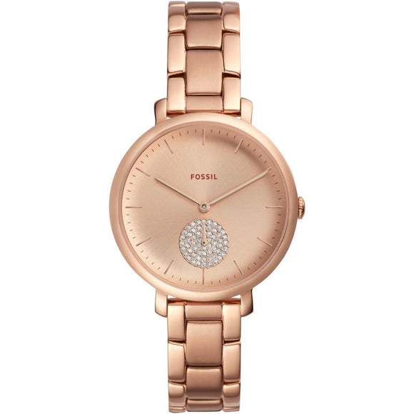 Fossil Jacqueline Rose Gold Strap Ladies Watch ES4438