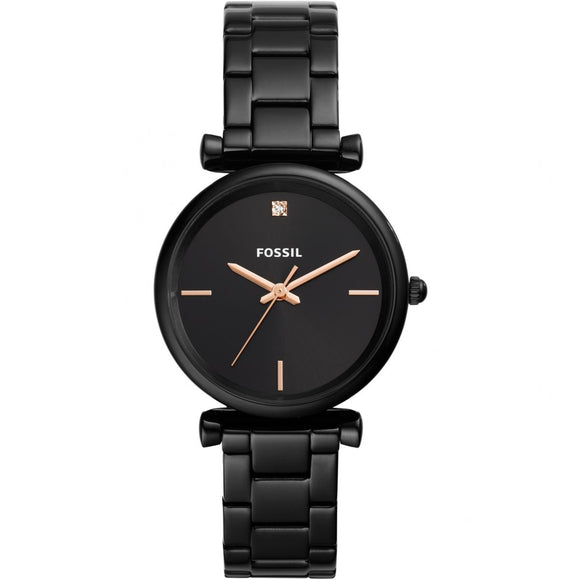 Fossil Jacqueline Black Stainless Steel Strap Ladies Watch ES4442