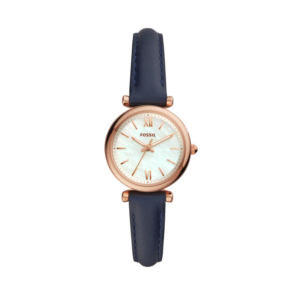 FOSSIL CHARLIE NAVY LEATHER ES4502