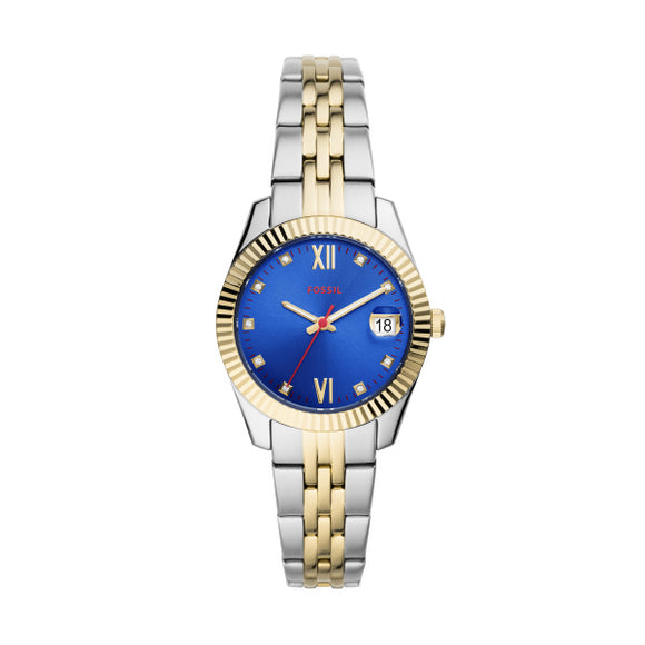 Fossil Scarlette Mini Two Tone Stainless Steel Strap Ladies Watch ES4899