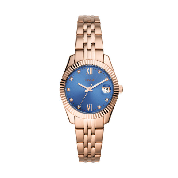 Fossil Scarlette Mini Rose Gold Stainless Steel Strap Ladies Watch ES4901