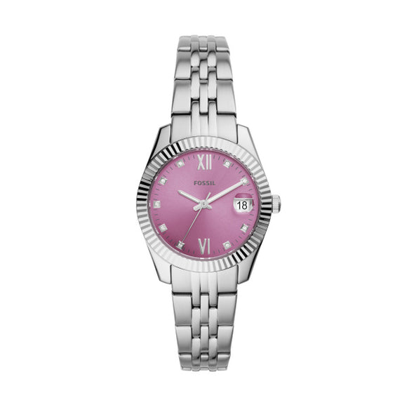 Fossil Scarlette Mini Silver Stainless Steel Strap Ladies Watch ES4905