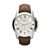 FOSSIL GRANT BROWN LEATHER FS475IE