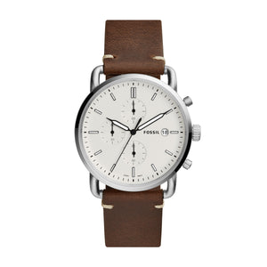 FOSSIL COMMUTER BROWN LEATHER  FS5402