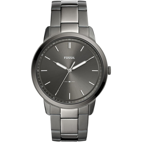 Fossil The Minimalist 3H Grey Stainless Steel Strap Gents Watch FS5459