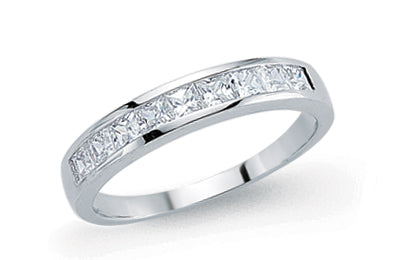 Sterling Silver half Eternity Ring GVR443