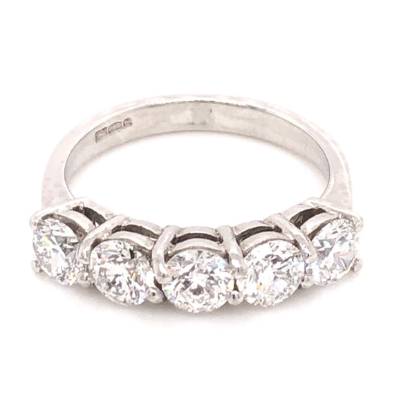 Platinum 5 Stone eternity ring