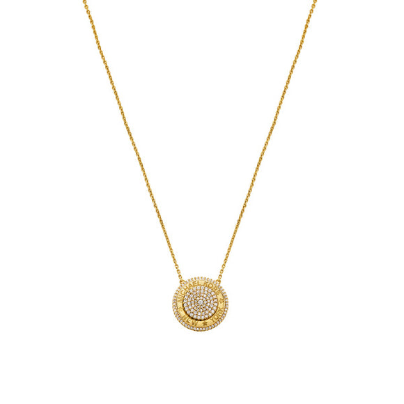 Michael Kors Kors MK Gold Plated CZ Ladies Necklace