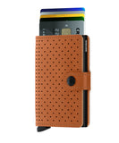SECRID Miniwallet Perforated Congac