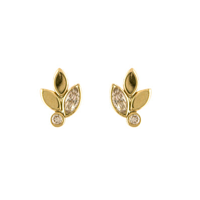 9ct Gold Leaf Stud NG3146