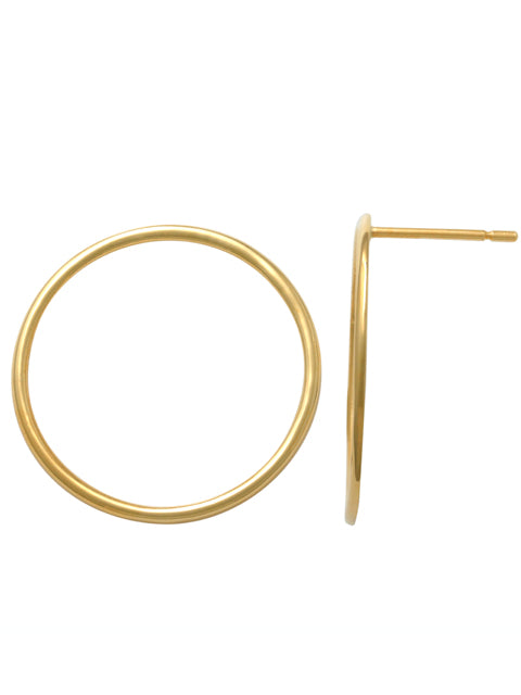 9ct Yellow Gold Open Circle Stud PT46592