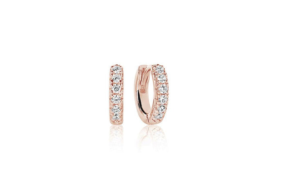 SIF JACOBS EARRINGS ELLERA PICCOLO - 18K ROSE GOLD PLATED WITH WHITE ZIRCONIA