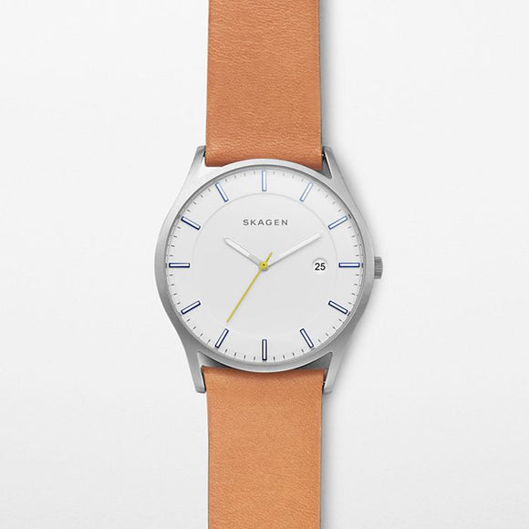 Skagen Holst Leather Strap Watch SKW6282