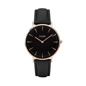 CLUSE LA BOHÉME ROSE GOLD BLACK/BLACK