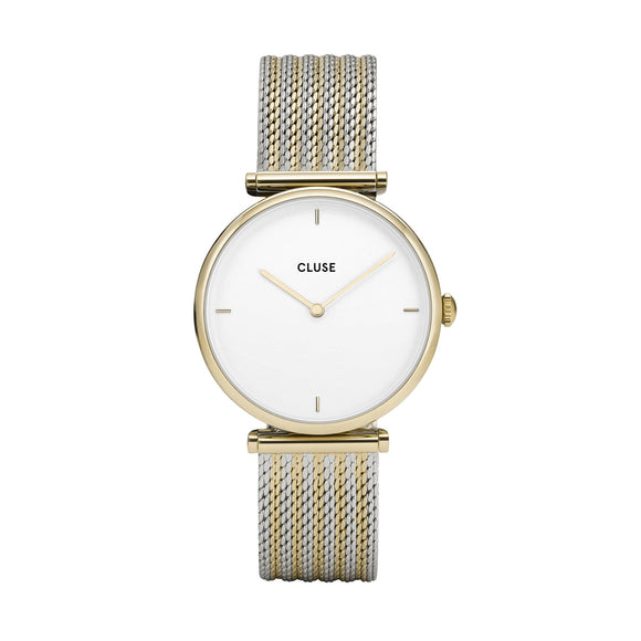 Cluse Triomphe Two Tone Mesh Strap Ladies Watch