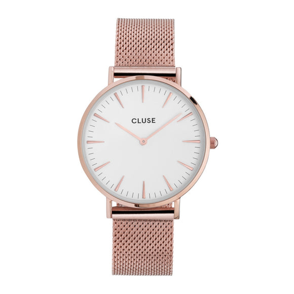 Cluse La Bohème Rose Gold Mesh White/ Rose Gold CW0101201001