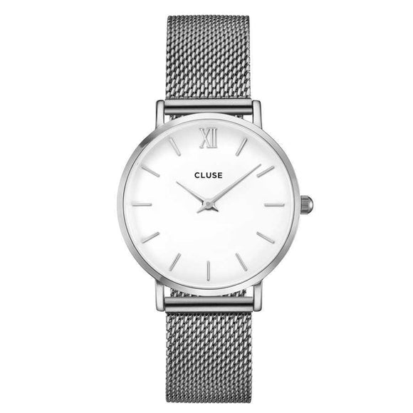 Cluse Minuit Silver Mesh CW0101203002