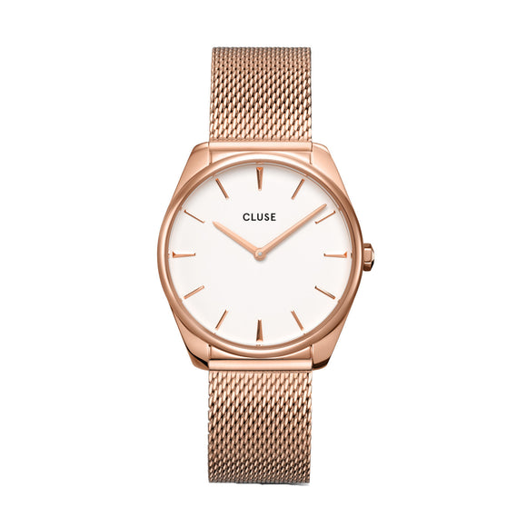 Cluse Féroce Rose Gold Plated Mesh Strap Ladies Watch