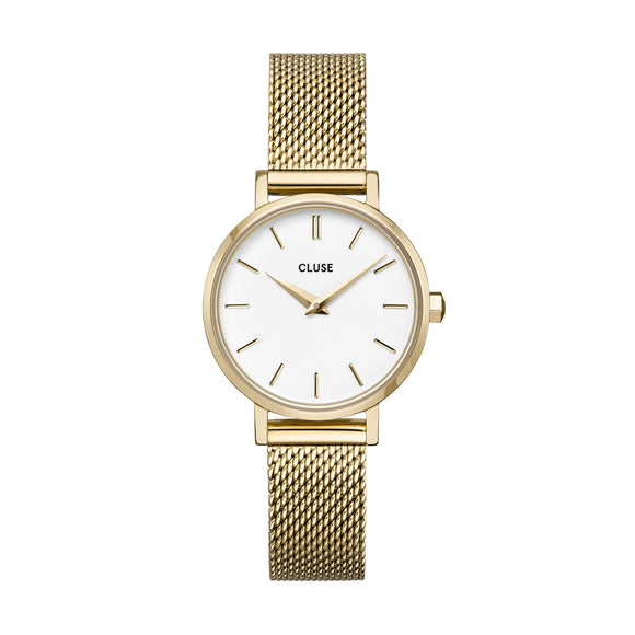 Cluse Boho Chic Petite Gold Plated Mesh Strap Ladies Watch