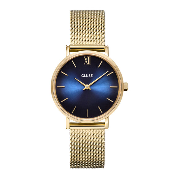 Cluse Minuit Gold Plated Mesh Strap Ladies Watch