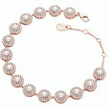Tipperary Crystal Rose Pearl & Cz Bracelet 118089