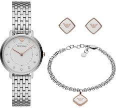 Emporio Armani Women's Two-Hand Stainless Steel Watch Gift Set AR80023