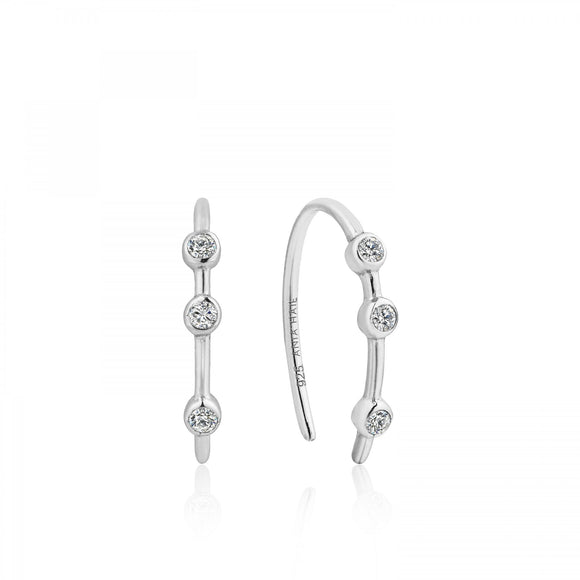 Shimmer Stud Hook Earrings E003-07H