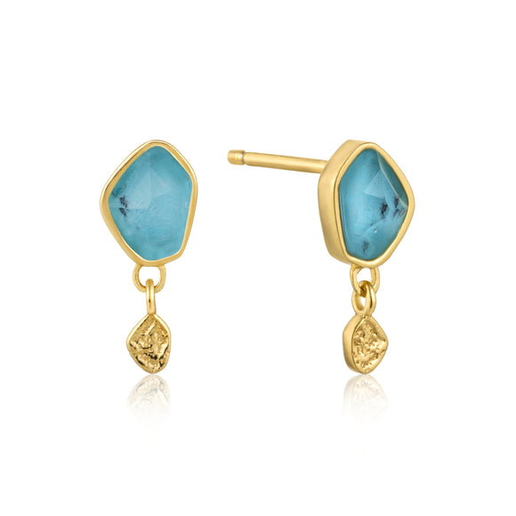 ANIA HAIE TURQUOISE DROP STUD EARRINGS E014-01G
