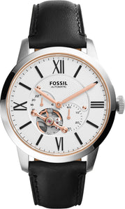 Fossil Townsman Automatic Black Leather Strap Gents Watch ME3104