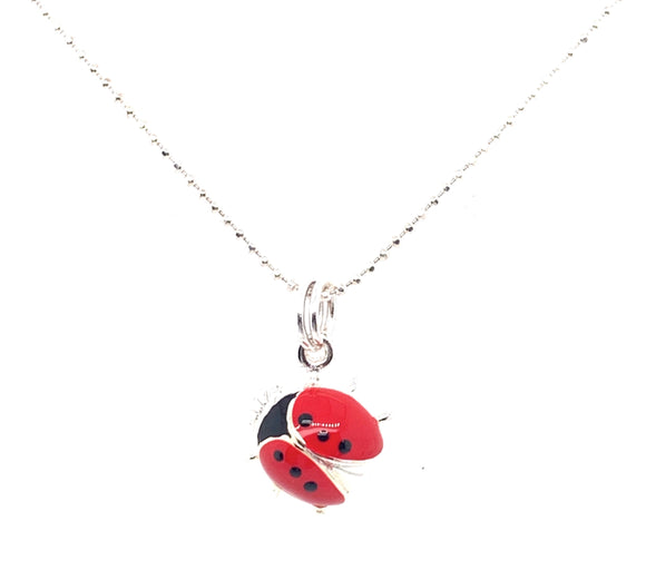 Sterling Silver Large Ladybird Pendant