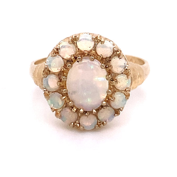 Best Opal 9ct Gold Cluster Ring