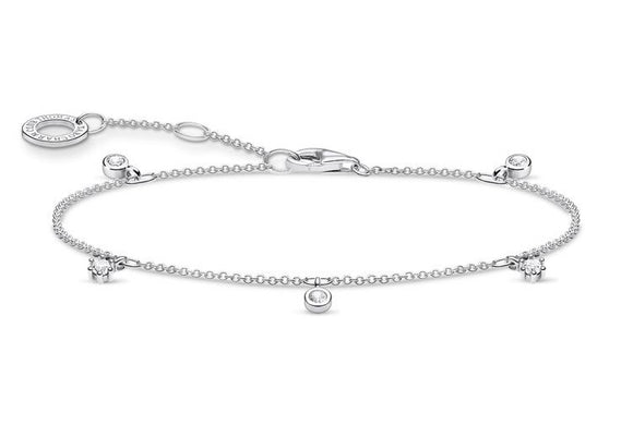 Thomas Sabo Sterling Silver Bracelet With White Stones
