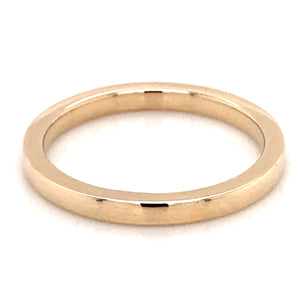 9ct Yellow Gold 2mm Band