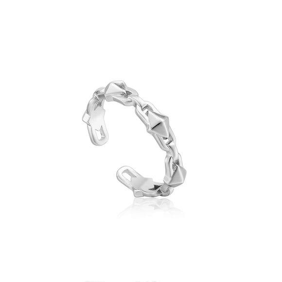 Ania Haie Spike It Up Silver Spike Adjustable Ring
