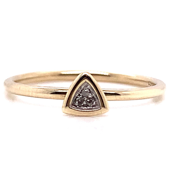 9ct Yellow Gold Trio Diamond Ring