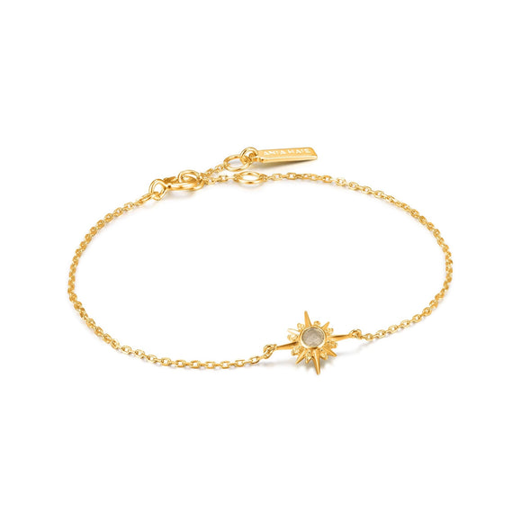 Ania Haie Midnight Fever Gold Star Bracelet