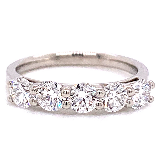 Platinum 1.25ct Five Stone Eternity Ring